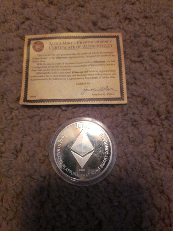 Aizics Mint Ethereum Cryptocurrency Coin