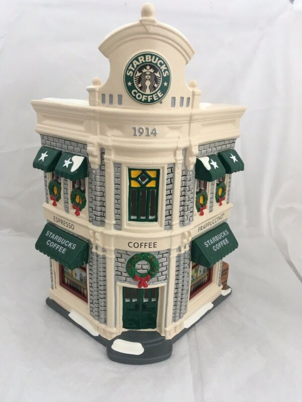Dept 56 Original Snow Village 1995 STARBUCKS COFFEE #54859 Mint Condition