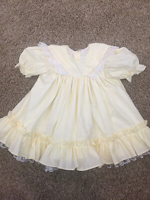 Vrg Toddler Bryan? USA Yellow Dress White Petticoat Lace Ruffle Trim Sleeve (Toddler Petticoats)