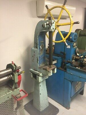 Famco 31 3 Ton Arbor Press On Factory Stand With Captains Wheel