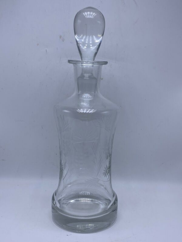 Vintage Clear Glass Liquor Decanter