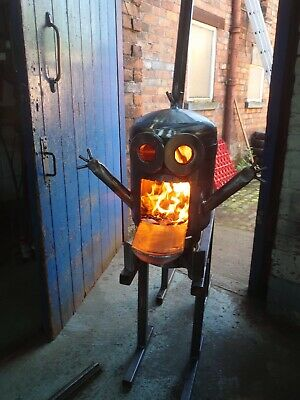 Log Burner Patio Heater Firepit Up Cycled Gas Bottle Minion