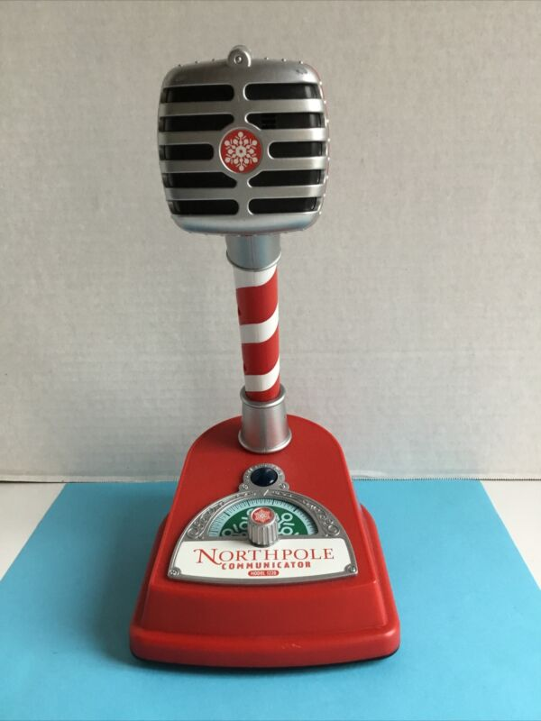 Hallmark North Pole Communicator Microphone green disk Tested and WORKS EUC