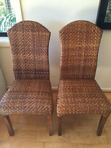 Wicker Indoor Dining Chairs (2) Northbridge Willoughby Area Preview
