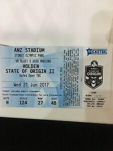 Gold State of Origin II ANZ Stadium 2017 Tickets x 2 Woronora Sutherland Area Preview