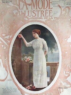Edwardian MODE ILLUSTREE Sept 10 & 17,1911+ multi sewing PATTERN sheet
