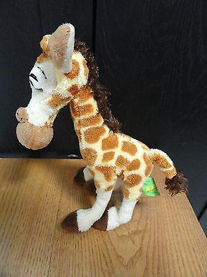 """Madagascar Beanie Giraffe Bean Bag 2005 Russ Plush 10"""""""