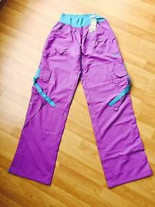 New Original Zumbawear Stellar Samba Cargo Purple Pants Size L Bo North Sydney North Sydney Area Preview