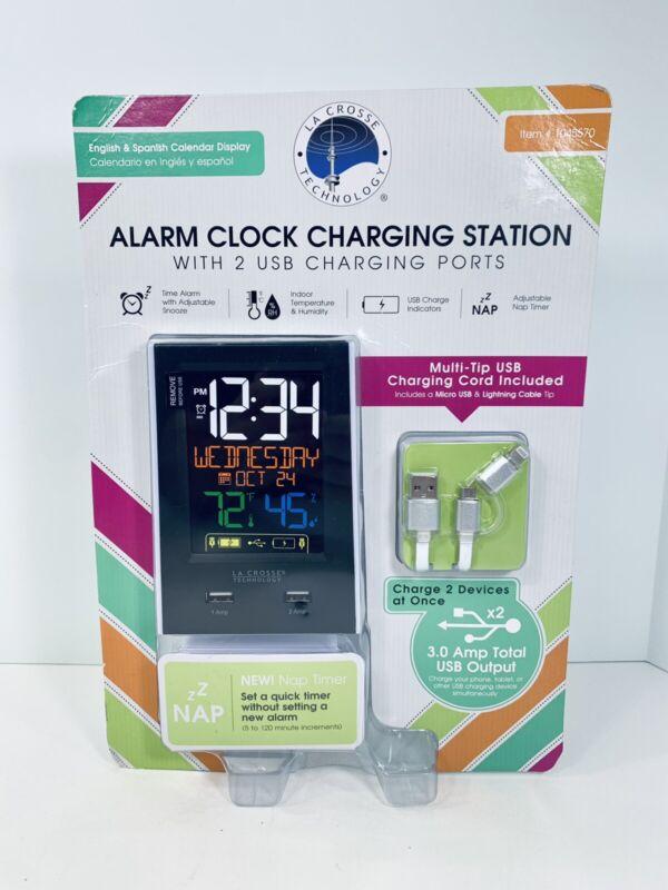 La Crosse Technology C86224 Dual USB Charging Alarm Clock