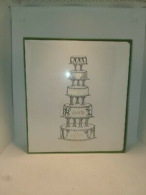 KATE SPADE NY Happily Ever After Bridal Planner Tiered Wedding Cake New in box