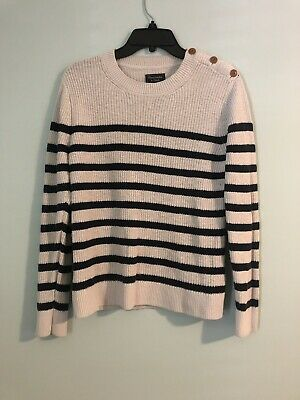 Abercrombie&Fitch Blue&White Striped Sweater Small
