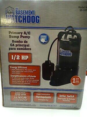 Basement Watchdog Sp-50t 12 Hp 3900 Gph Thermoplastic Float Ac Sump Pump