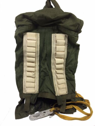 Vietnam Era Style Parachute Deployment Bag with Static line
