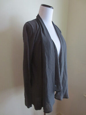 Liz Lange Maternity for Target Dark Grey Cardigan Sweater Size Medium VGUC