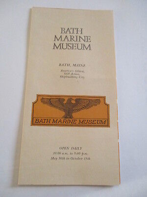 LOT of 2 Vintage BATH MARINE MUSEUM BATH MAINE Travel Brochures