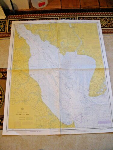 NAVIGATIONAL CHART / MAP:  DELAWARE BAY - NJ - DE.  -  # 1218