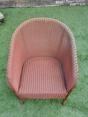 Genuine Lloyd Loom Lusty tub chair in dusky Pink
