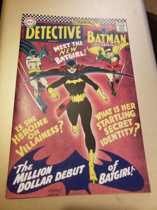 Batman Detective Comics 359 Custom Made Cover REPRINT 1st Batgirl Reprint