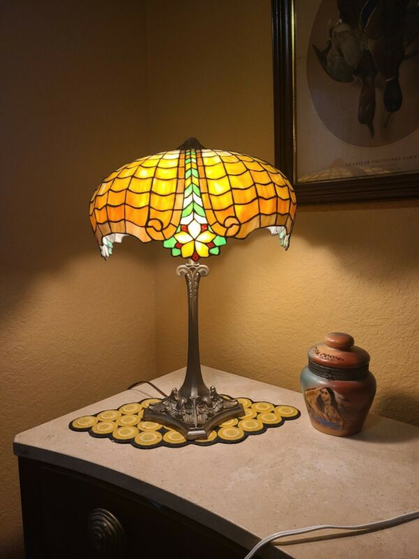 Antique Gorham Lamp Wilkinson Duffner Handel Tiffany Studios era