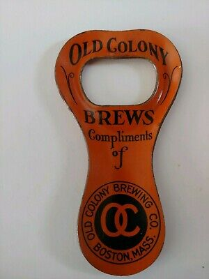 Old Colony BREWS Lithographed Opener Old Colony Brewing Co. Boston Mass.