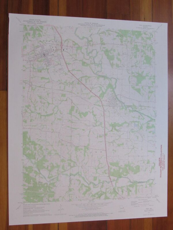 Troy Missouri 1973 Original Vintage USGS Topo Map