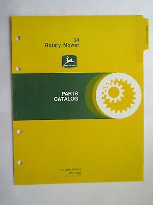 John Deere 70 100 Lawn And Garden Tractor 34 Mower Parts Catalog Manual Pc1008