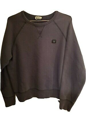 ACNE STUDIOS College Face Crew Sweatshirt Size M Black