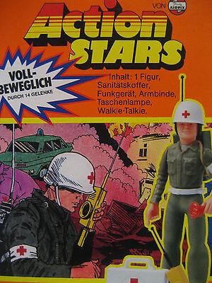 1970s vintage Airfix Action Stars army MEDIC action figure MIB toy RARE unused !