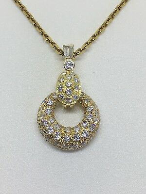 Van Cleef & Arpels 18K Yellow Gold Diamond Circle Necklace