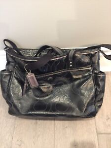 Coach baby diaper bag patent leather