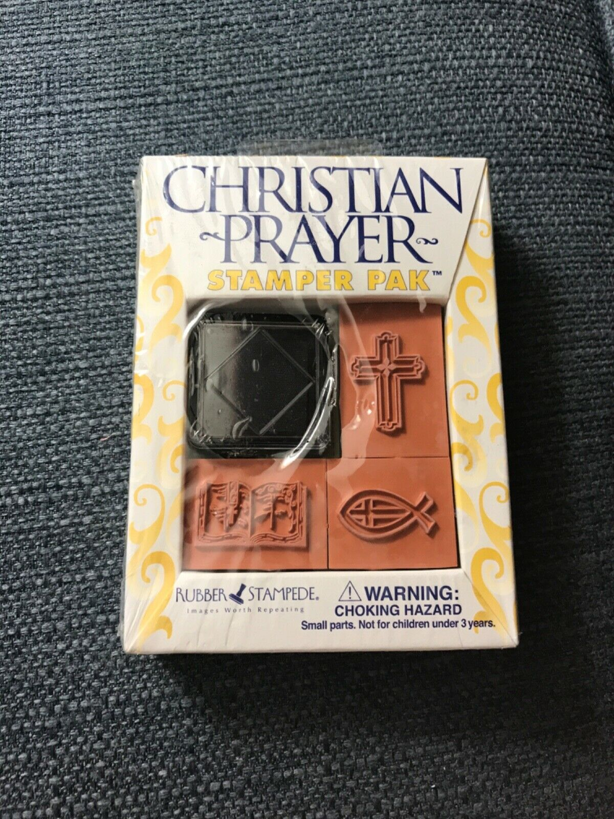 "New Rubber Stampede Stamper Pak ""Christian Prayer"" 3 sta"