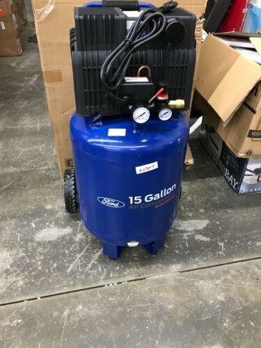 Ford 2 HP 15 Gallon 125 Max PSI Vertical Tank Oil-Free Air Compressor FCE6150QV