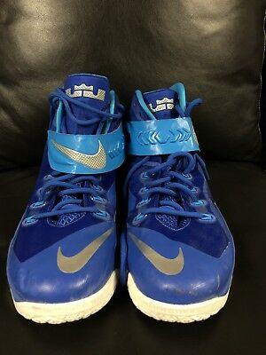 promo code 7d92b 3584d Deandre Jordan Game Worn Used Nike Lebron Soldier Shoes LA Clippers NBA