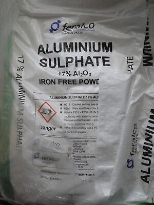 Aluminium Sulphate 17% Powder - 25kg bag Sulphate - Papermaker's Alum