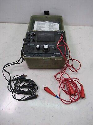 Biddle Instruments Motor Phase Rotation Tester 2566726 Start-up Unit W Case