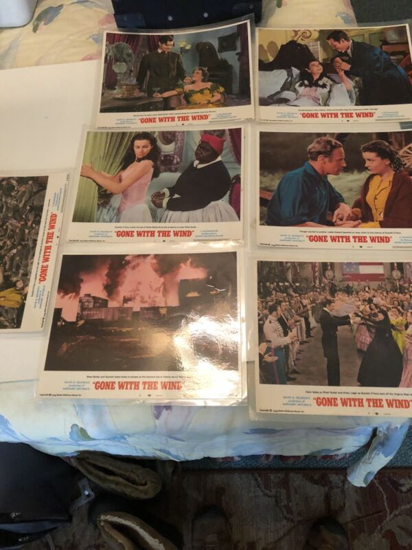 """7- """"Gone With The Wind"""" Original 11x14 Authentic Lobby Card Photo Posters-1968!!"""