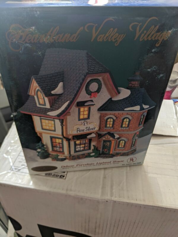 Heartland Valley Village/Deluxe Porcelain House/Fine Silver House CIB best deal