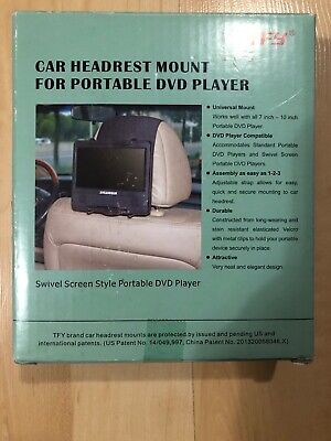 Car Headset Mount For Portable Dvds New