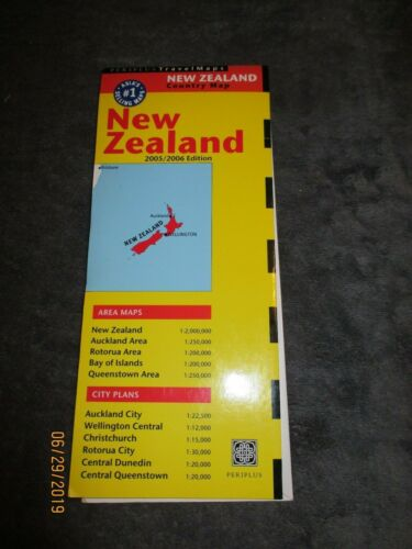Periplus Travel Maps New Zealand 2005 edition Queenstown area too great color
