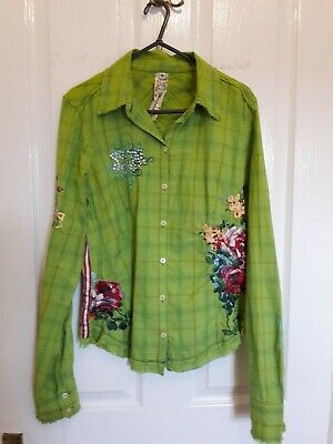 Johnny Was 3J Workshop Fairy Shirt S 8 10 Veery Good Condition