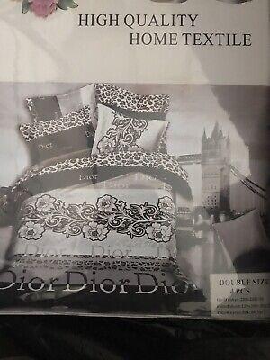 Brand New King Size Duvet Set Dior Inspired Set