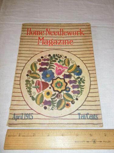 Vintage Home Needlework Magazine April 1915 Patterns Old VTG Booklet