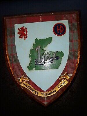 Vintage Inverness Training Camp Wooden Plaque Nessie