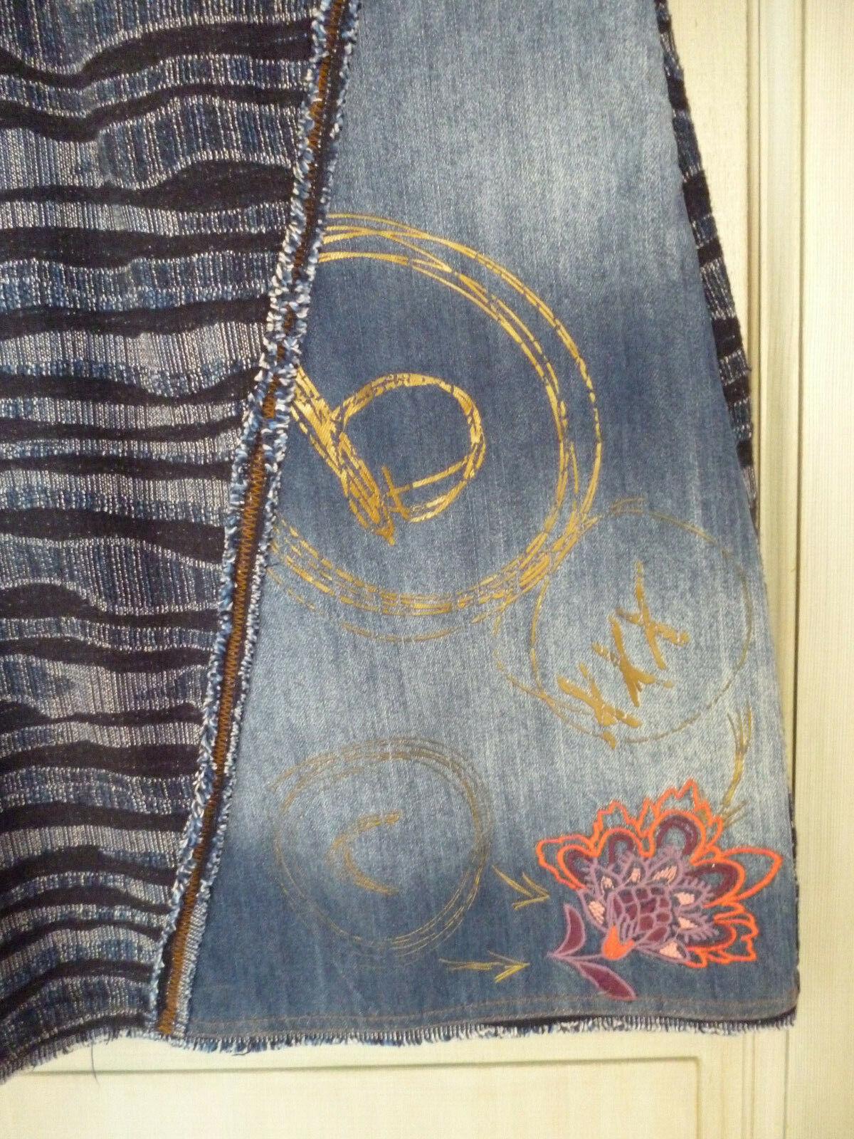 Robe bi-matière jean et tweed desigual taille 36 comme neuve