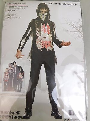 No Guts No Glory Ghoulish Undead Bone/Organ Skeleton Zombie Halloween Costume -
