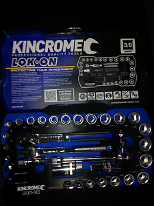 KINCROME LOK-ON SOCKET SET 33PCE BRAND NEW TOOLS Greenwith Tea Tree Gully Area Preview