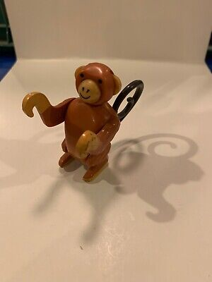 Vintage Fisher Price little people brown monkey for Circus Train 991