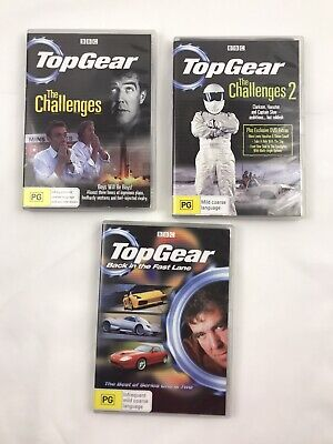 Lot of 3 Top Gear DVD The Challenges 1 & 2, The Best of Series 1 & 2 (Best Top Gear Adventures)