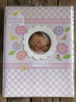 Baby Girl Memory Book C.R. Gibson Stepping Stones Sweet For First Five Years