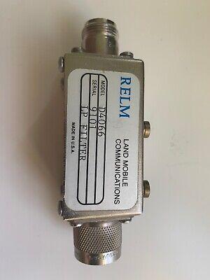 Relm Land Mobile Communications D4066 Serial 9101 Lp Filter